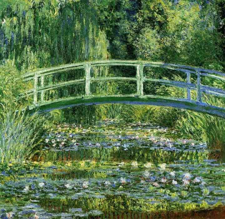 Monet - Water Lilies and Japanese Bridge 1899