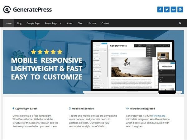 theme wordpress gratis responsive
